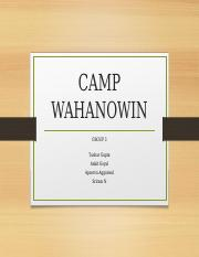 Case - Camp Wahanowin