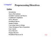 Ch. 6: Preprocessing Directives