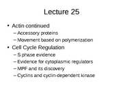 Lecture 25 Cell cycle regulation