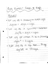 Logs and Exponents Notes