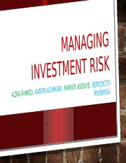 MANAGING INVESTMENT RISK.pptx