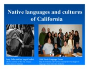 Lecture 9 Native Languages of California