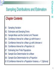Notes07 Sampling distribution and estimation