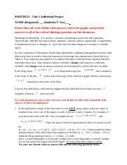 math 133 unit 1 individual project 2