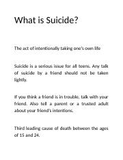 What is Suicide.docx