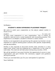 STUDENT'S WORK EXPERIENCE PLACEMENT PROJECT.docx