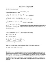 Solutions to Assignment 4