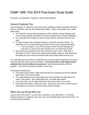 COMP1405Fall2014FinalExamStudyGuide