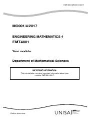 advanced maths IV letter