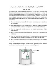 Physics- Assignment 10- Into the Well