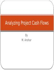Analyzibg Project Cash Flows