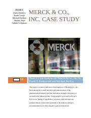 Merck & Co., Inc. Case Study