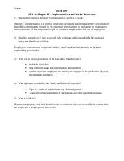 CPA 14 (Chapter 20 - Employment Law and Worker Protection).docx