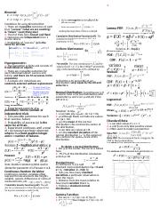 Stats 371 Cheat Sheet Test 2 1 .docx