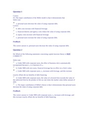 FINN 3226 Capital Stucture Decisions Part 2 Homework Answers