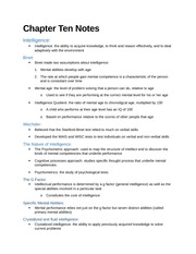 Chapter Ten Notes