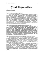 Great Expectations Chapter 1 and 2 notes