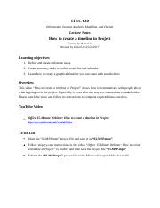 Microsoft Project Lecture Notes & Exercise 3.docx