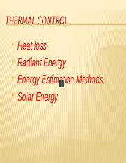 Thermal Control PPT
