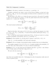 MATH 544 Fall 2014 Assignment 4 Solutions