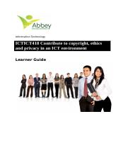 ICTICT418 Learner Guide.docx
