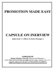 INTERVIEW  CAPSULE MAY  2016