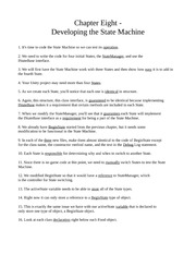 Chapter Eight - Developing a State Machine