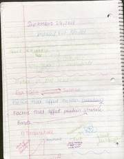 BIO- September 26 Lecture notes
