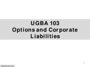 Options and Corporate Liabilities