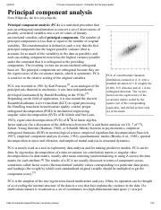 Principal component analysis - Wikipedia, the free encyclopedia