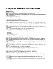 Chapter 16 Nutrition and Metabolism.docx