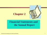 CHAPTER-2 FINANCIAL STATMENTS AND THE ANNUAL REPORT