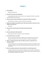 Chapter 1 review sheet