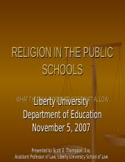 """the development of the freedom of religion in public schools Religion in public schools: 7 religious things you can still do  religion in public schools:  read """"a teacher's guide to religion in the public schools."""