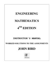 Engineering Math 4th ed [Instructors Manual/Solutions]