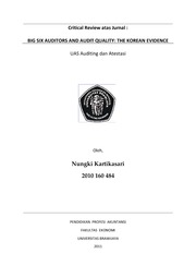 Nungki Kartikasari - Critical Review Jurnal Audit