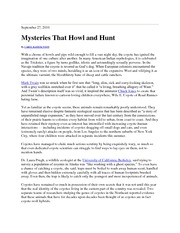 Mysteries that Howl and Hunt