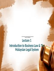 LAW60104 Lecture 1 Intro to Malaysian Legal System.pptx
