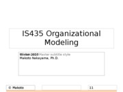 IS435 Topic Workflow Modeling Overview