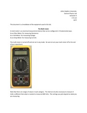 Multimeter Lab