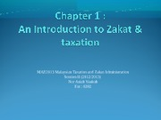 Chapter 1 Introduction to the Zakat and Taxation