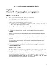 Topic 7  Solutions - Chapter 9  Accounting for Non-Current Assets.pdf