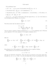 Stats 5201-spring 12 Least Squares handout