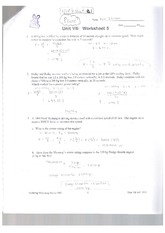 Worksheet Power