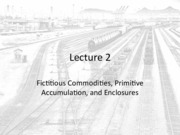 Lecture 2 - Fictitious Commodities