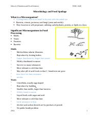 Micro_and_Food_Spoilage_Student_Notes 2014