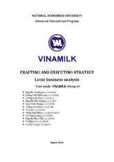 Vinamilk Local Business Case Study