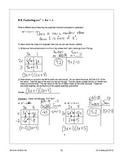 Quadractics Notes