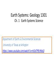Chapter 1 Earth Systems