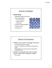 Econ 2 - Lecture7 - Game Theory (Spring 2012) - Part 1